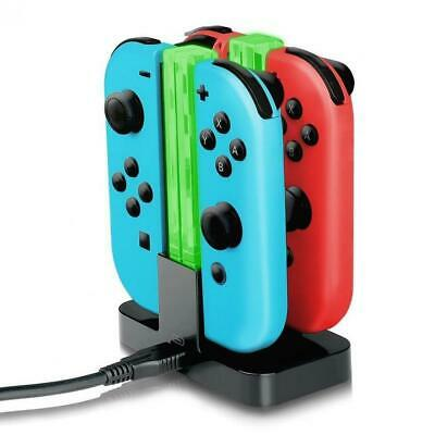 Nintendo Switch Joy-Con Charge Dock 4 in 1 Controller Charging LED Stand Charger