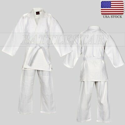 White Judo JUJUTSU Uniform 700GSM Double Weave Competition//Instructor Quality