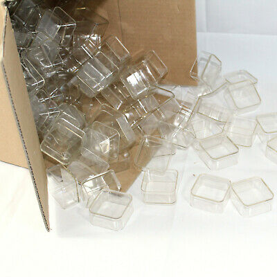 250 x Tea light cups square candle making plastic holders
