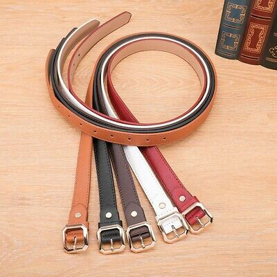Fashion Women's Casual Leather Girdle Buckle Belt Pure Color Waistband Belt