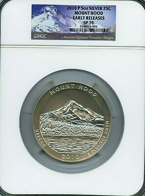 2010-P SP70 5oz Early Releases ATB Mount Hood America the Beautiful NGC SP70