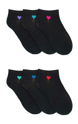 Ladies Undercover Invisible Trainer Liner Heart Socks 6 or 12 Pairs