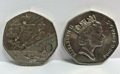 1994 Fifty Pence Piece - 50th ANNIVERSARY OF D-DAY WORLD WAR 2