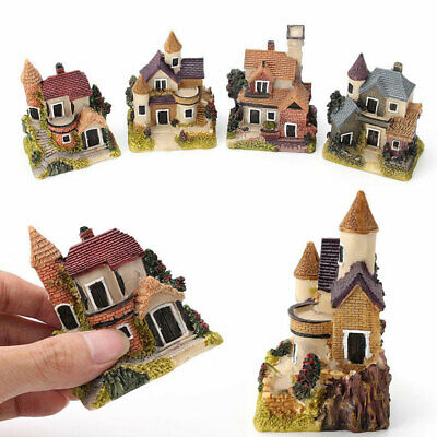 Fairy Garden Vivid Miniature Resin House Micro Landscape Ornament Home Decor Tre