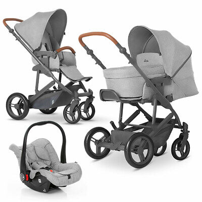 ABC Design  Kombi Kinderwagen Set 3in1 Merano 4 mit Babywanne & Autositz - Grey
