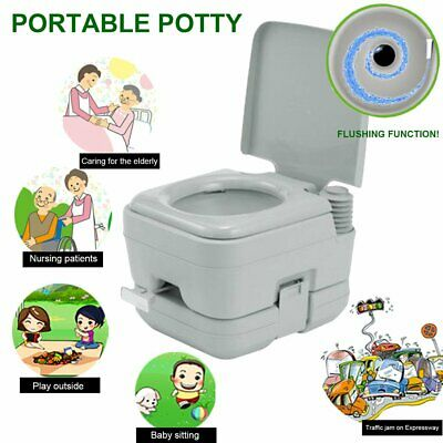 10L Inodoro Portátil Flush Potty Baño WC para Camping Anciano Caravana-BIG TRE