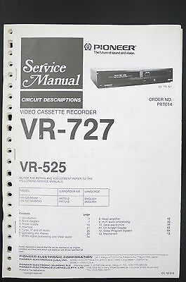 Pioneer VR-727/525 Circuit Description Service Manual/Instructions/Wiring