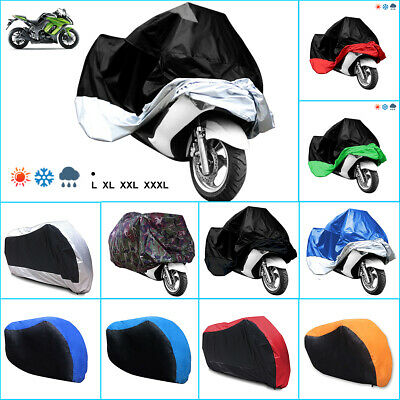 L XL XXL XXXL Waterproof Motorcycle Motor Bike Dust Rain Cloth Snow Sun Cover