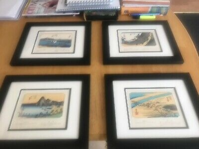 Authentic Japanese Woodblock Prints (Set of Four)