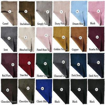 Soft Double Sided 4-Way Stretch Faux Suede Fabric Jacket Apparels Upholstery 58""
