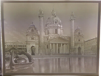 Grosse Lithophanie Large Lithophane Plaue Karlskirche Wien