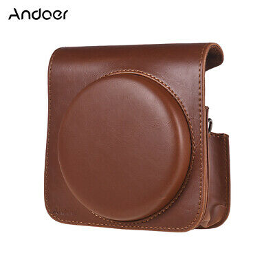 Andoer Protective Case PU Leather Bag with Adjustable Strap for Fujifilm V2P5
