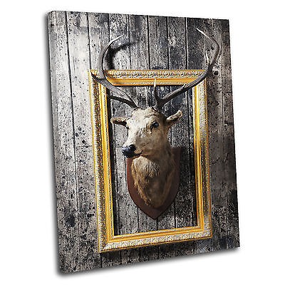Stag Deer Head Abstract Canvas Wall Art Print Picture 19-pre9