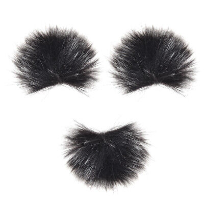 Furry Outdoor Microphone Windscreen Muff Mini Lapel Lavalier Microphone C1B9