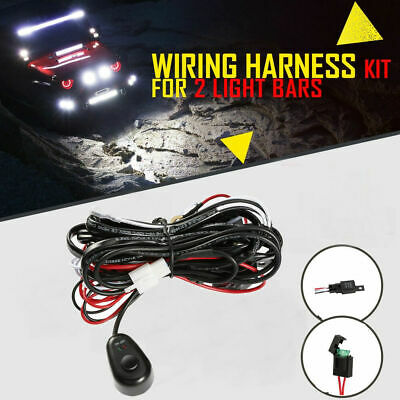 universal 12v wiring harness led light bar 40amp relay fuse on-off switch 4  lead