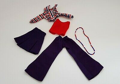 Sindy doll clothes vintage pedigree mix and match 1976 with htf necklace