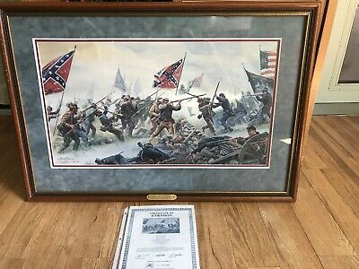 "Mort Kunstler- The High Tide - signed & numbered -Civil War 25"" X 36"" Framed"