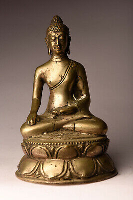 Alter Buddha  17 cm Silber China Indonesien alt