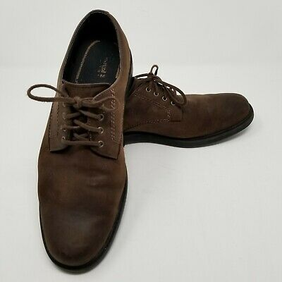 Timberland Mens Shoes 11 M Concourse Brown Nubuck Waterproof Oxfords Leather