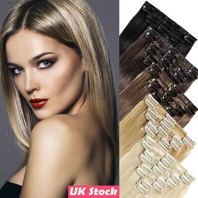 CLEARANCE Best Russian Clip in 100% Remy Human Hair Extensions Full Head W306