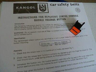 Kangol Seat Belt Stalk Replacement Buckle Button  Bmc Triumph Mg Austin Morris