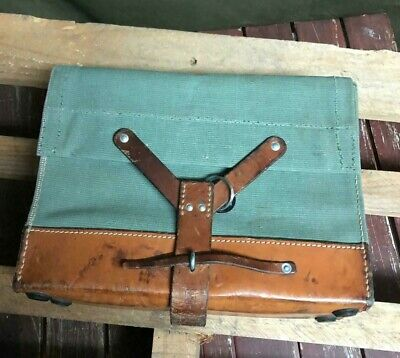 1963 Good Condition Vintage Swiss Army Military Ammo Bag Bicycle Pannier