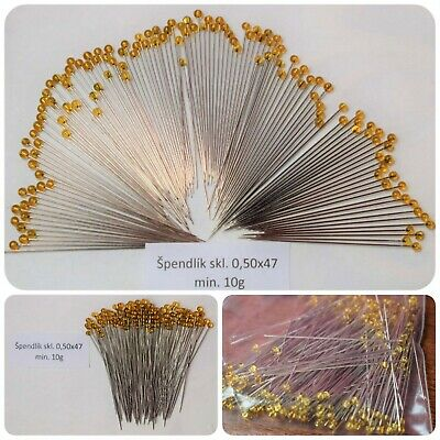 Gllass- headed pins insects assembly of beetles fixation 0.5/47mm 10g Entomology