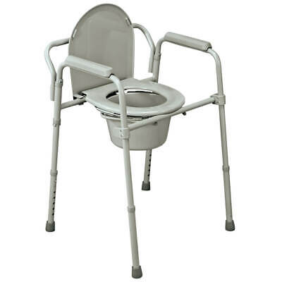 Folding Commode, Portable Toilet and Bedside Commode Chair, Includes Splash