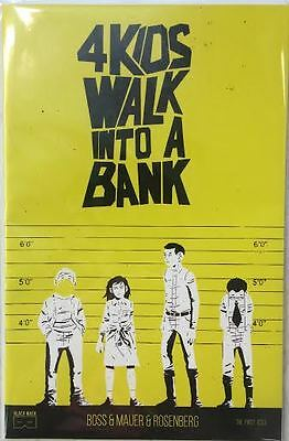 4 Kids Walk Into A Bank #1 Yellow Variant Serial Numbered 242/250 Black Mask