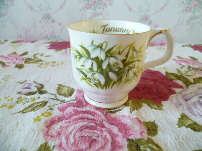 Royal Albert China Tea / Coffee Mug / Cup January Flower of Month Snowdrop
