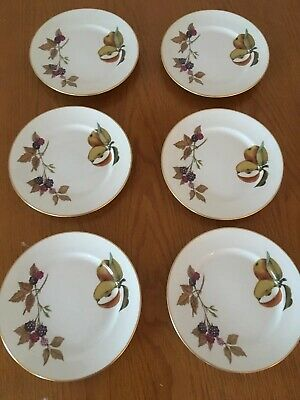 6x Royal Worcester Evesham Gold Side Plates In Excellent Condition