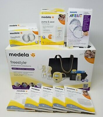 Medela Freestyle Double Electric Breast Pump w/ Accessories Excellent Condition