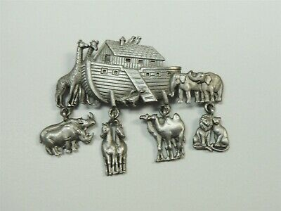 Noah's Ark by JJ Animal & Boat Pin Camels Lions Elephants Rhinos FREE SHIP d26