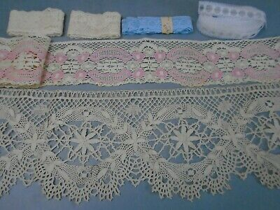 Vintage lot of laces over 16 yds