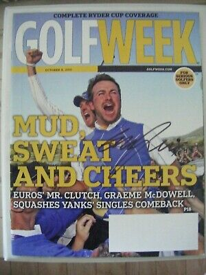 GRAEME McDOWELL signed RYDER CUP 2010 GOLF WEEK magazine AUTO Autographed UAB