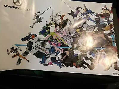 CHARACTER COLLAGE POSTER OVERWATCH 22x34 VIDEO GAME 15789