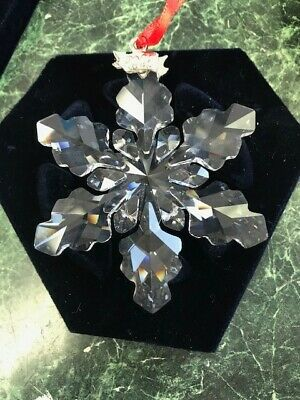 Swarovski Crystal 2008 Annual Star Snowflake Christmas Ornament Mint No Box
