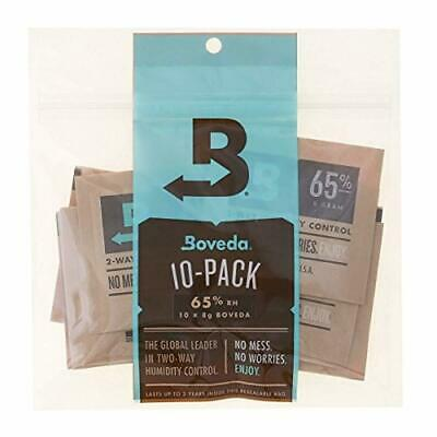 Boveda 65% RH 8 Gram, patented 2-Way Humidity Control, (1) 10-Pack, Unwrapped