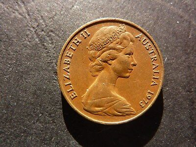 1973 Australian 2 cent circulated Coin