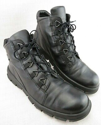 37ad441d3beff Ecco Ankle Boots Lace Up Gore Tex Work Black Leather Chukka Shoes Men's US 9