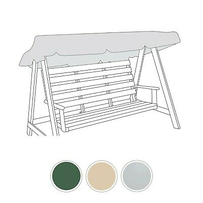 Universal Water Resistant 2/3 Seater Garden Swing Seat Replacement Canopy Cover