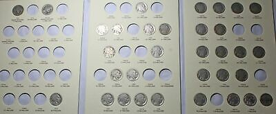Buffalo Nickel Collection, partially complete, 33 coins total