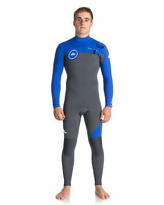 NEW QUIKSILVER™  Mens Syncro Series 3/2mm Chest Zip GBS Steamer Wetsuit Surf