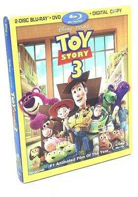 Toy Story 3 (Blu-ray+DVD+Digital Copy*, 2010; 4-Disc Set) NEW with Slipcover OOP