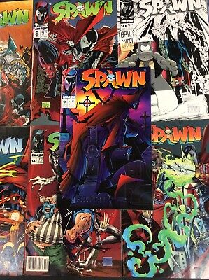 SPAWN #2 6 8 10 11 12 13 14 15 16 TODD MCFARLANE AL SIMMONS IMAGE Comic Book LOT