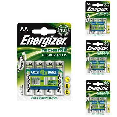 16x Energizer Recharge Aa Power-Plus Batterie 2000 MAH Mignon LR06 LR6 MN1500