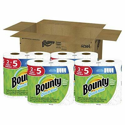 Quick-Size Paper Towels, White, 8 Family Rolls = 20 Regular Rolls