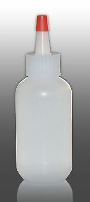 Boston Round Plastic Bottle with Yorker Cap - 60 mL / 2 oz - Pack of 6