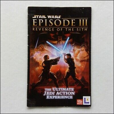 Star Wars Episode III Revenge Of The Sith PS Manual Only Instruction Booklet