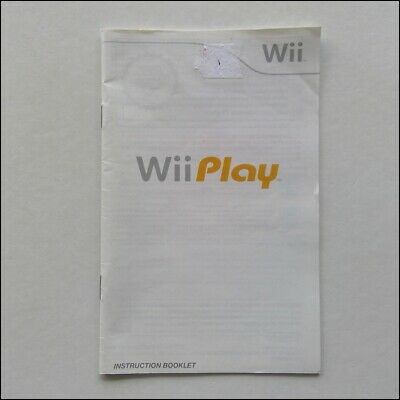 Nintendo Wii Play Manual Only Instruction Booklet